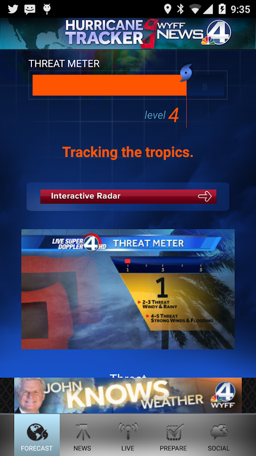 Hurricane Tracker WYFF 4- screenshot