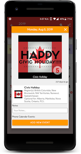 Canada Calendar - Holiday & Note (Calendar 2020) screenshots 3