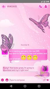 Růžová SMS - náhled