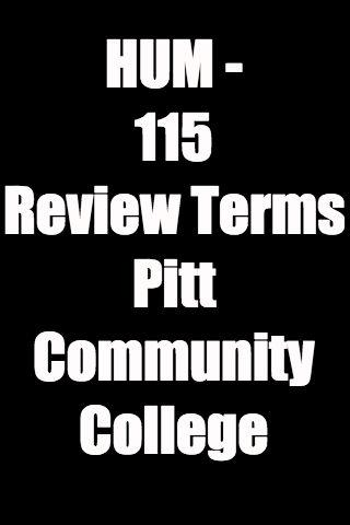 PCC HUM - 115 Review Terms
