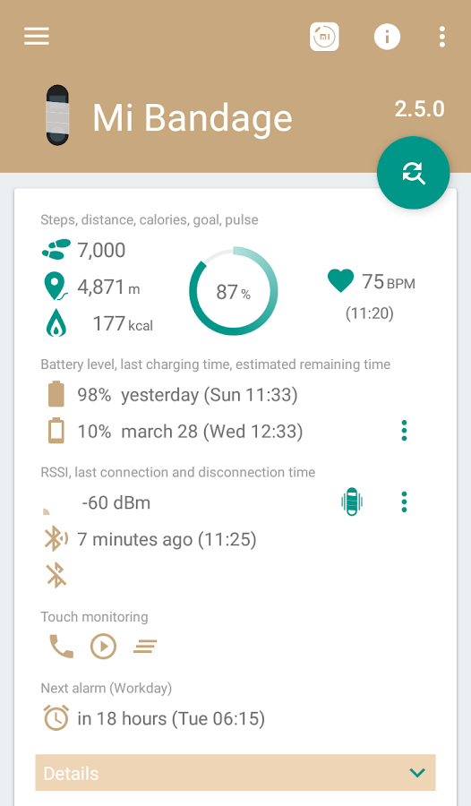 Mi Bandage - Mi Band 2 & Amazfit support- screenshot