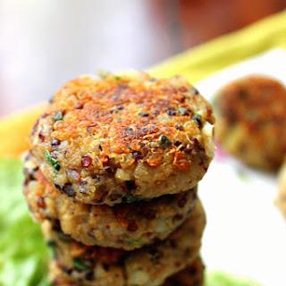 Quinoa Potato Cakes (Quinoa Aloo Tikkis)