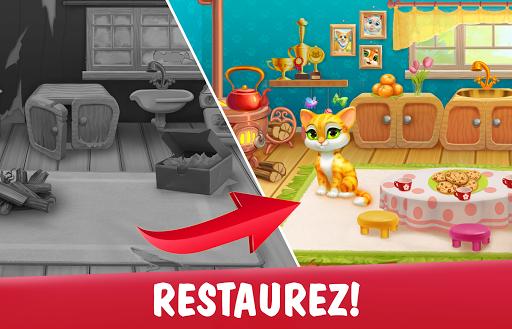 Code Triche Garden Pets Puzzle – Jeu de Match 3 gratuit APK Mod screenshots 1
