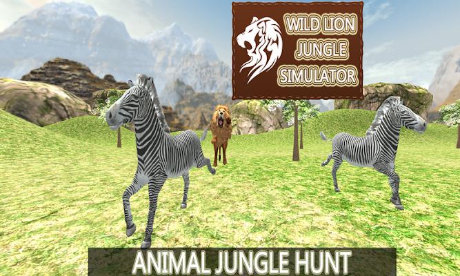 Wild Lion Jungle Simulator - screenshot
