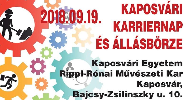 Kaposvári Karriernap és állásbörze 2018.09.19