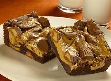 Peanut Butter Cup Sprinkled Brownies