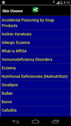 skin disease and treatment screenshot for Android