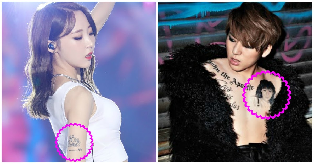 10 K Pop Idols With Tattoos Dedicated To Their Family Members Koreaboo