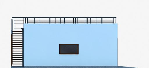 G353 - Budynek garażowo-gospodarczy - Elewacja lewa