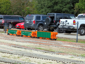 Photo: Sandoval ballast cars from track 11       2013-1116 RPW