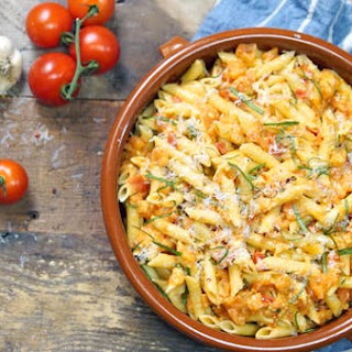 Penne With Garlic and Tomatoes.
