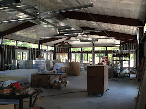 Photo: Wide, open space for the collection, study and reading areas.