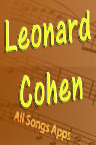 All Songs of Leonard Cohen