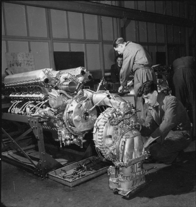 A_Merlin_Is_Made-_the_Production_of_Merlin_Engines_at_a_Rolls_Royce_Factory,_1942_D12137