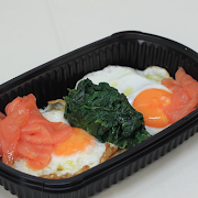 Smoked Salmon, Spinach & Egg Bake