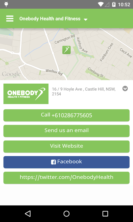 Onebody Health + Fitness- screenshot