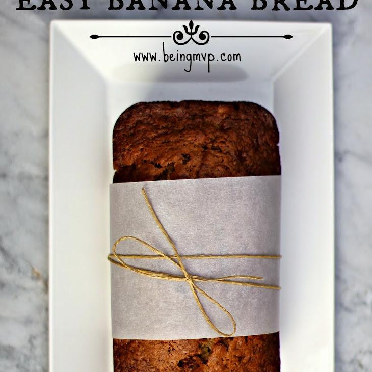 Easy Banana Bread for the Holidays {Recipe} #TasteTheMiracle #Ad