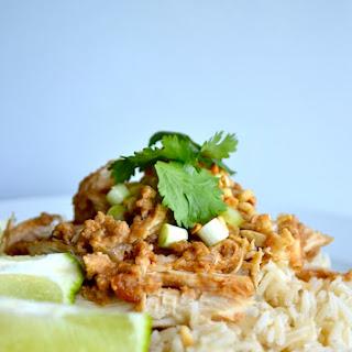 Skinny Crock Pot Thai Peanut Chicken
