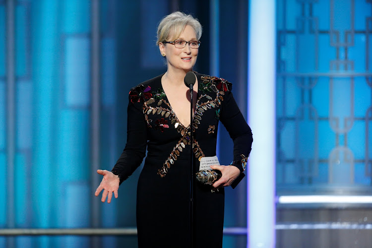 Actress Meryl Streep accepts the Cecil B. DeMille Award during the 74th Annual Golden Globe Awards show in Beverly Hills, California, US. Picture: REUTERS/PAUL DRINKWATER COURTESY OF NBC