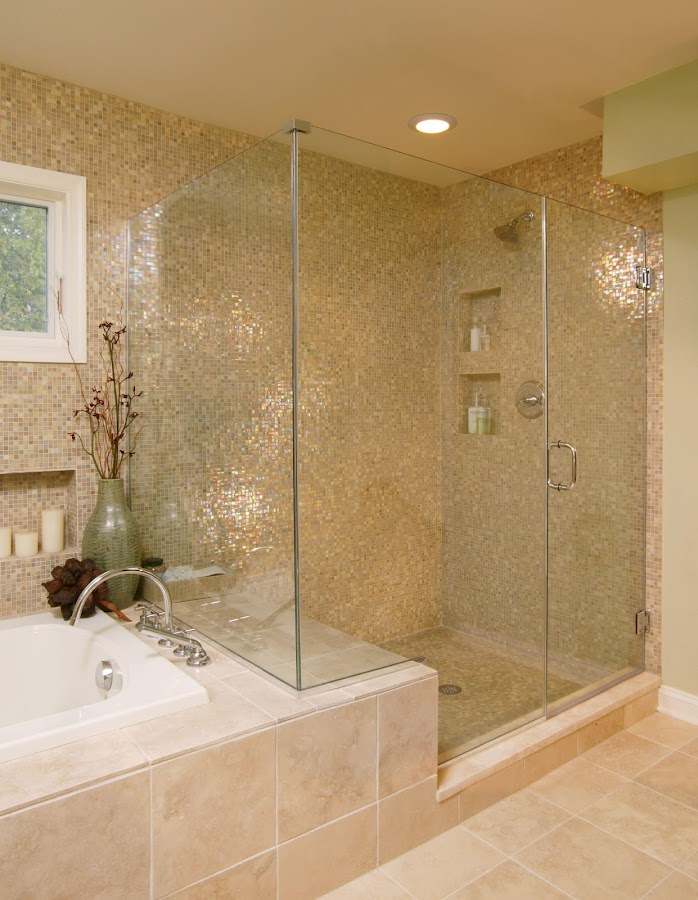 Bathroom Design Ideas traditional full bathroom with giallo veneziano granite arizona tile frameless shower doors by dulles Bathroom Design Ideas Screenshot