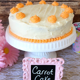 Carrot Cake with Cinnamon Cream Cheese Filling.