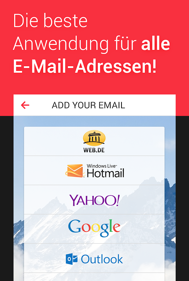 myMail – E-Mail Programm für Hotmail, GMX, Web.de – Screenshot