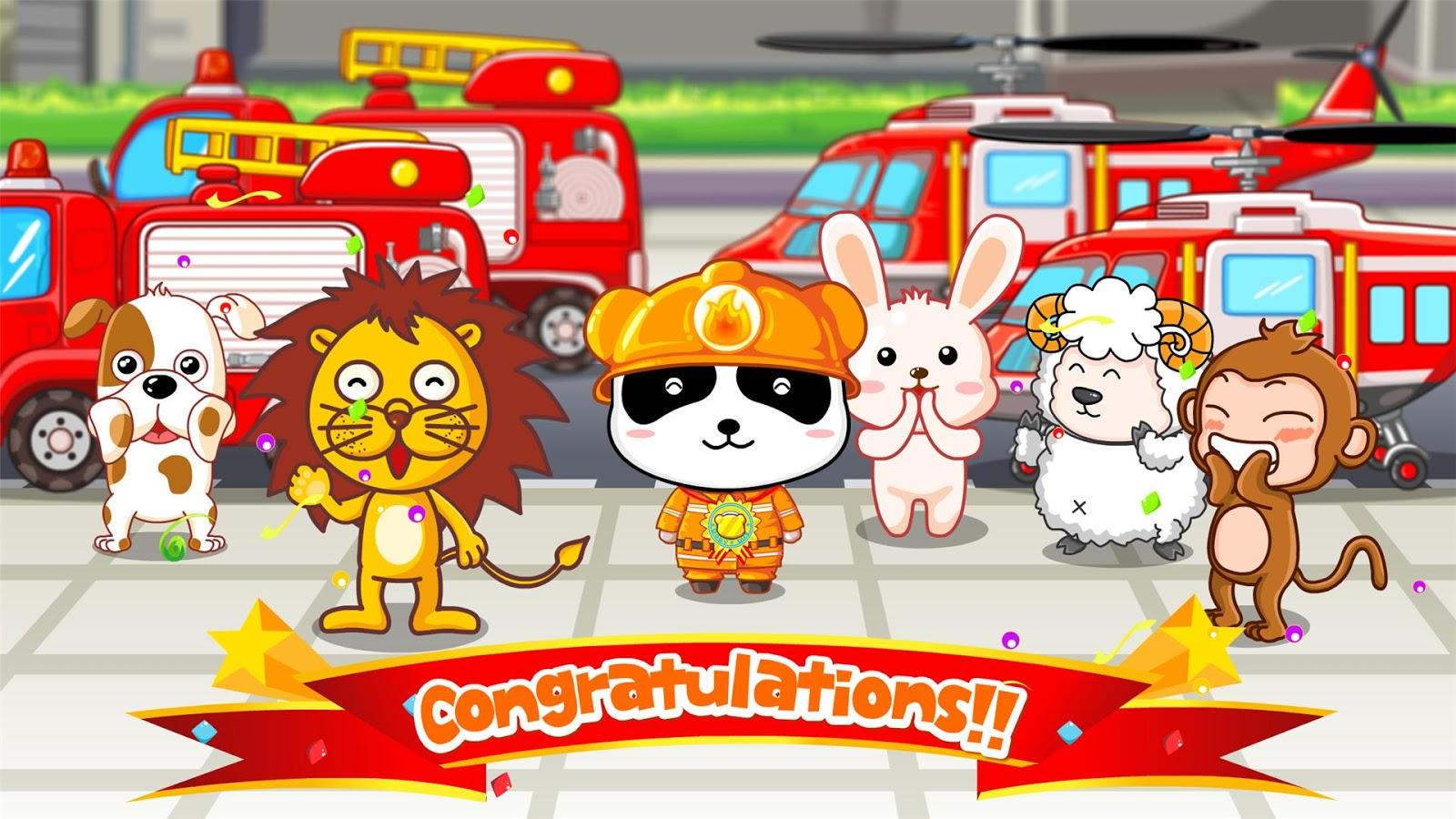 Little Fireman - Free for kids- screenshot