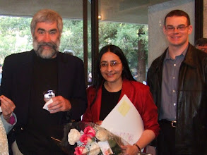 Photo: Terry Speed, Ani Adhikari, and Ian Lebby