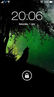 Vlk noční tapety, vlk pozadí 4K