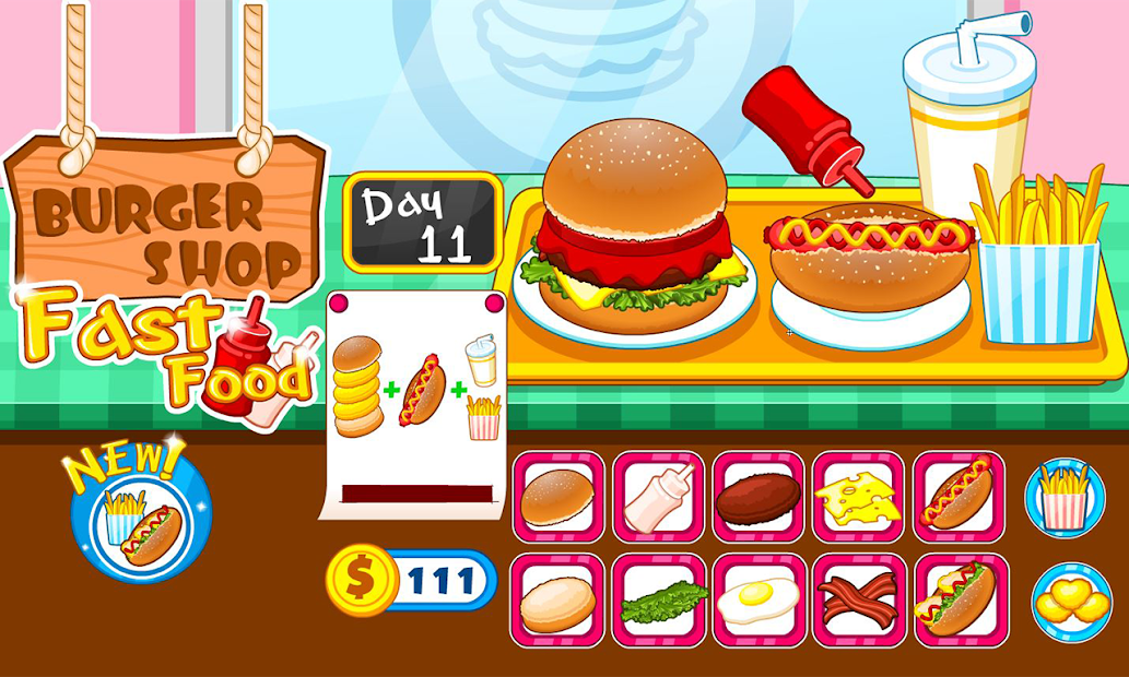 Burger shop fast food Android App Screenshot