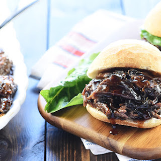 Slow Cooker Honey Balsamic Shredded Beef Sandwiches Recipe
