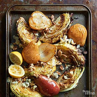 Roasted Cabbage with Pears