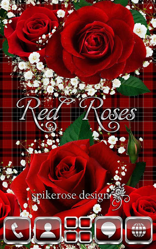Red Roses Go Launcher Ex Theme