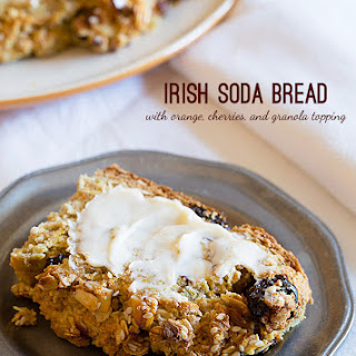 Irish Soda Bread with Cherries and Granola Top