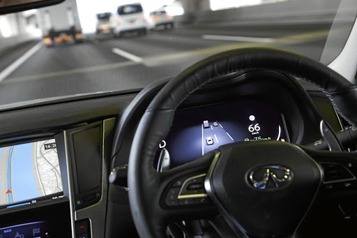 While the car can usually see everything around it, autonomous cars are often over-cautious leading to misunderstandings with human drivers. Picture: NEWSPRESS UK