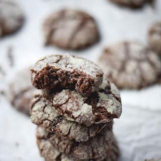 Soft Dark Chocolate Crinkle Cookies Recipe