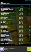 Screenshot of Info Saham Bursa Efek