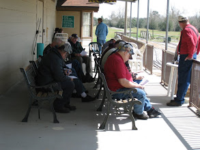Photo: Conductor's class taking a test with the teacher Ed Rains watching.  HALS 2009-0228