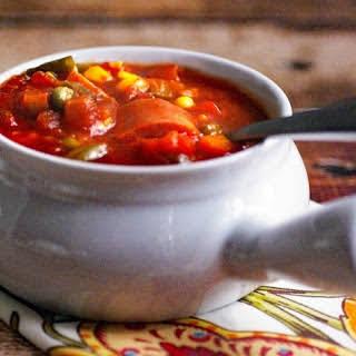 Slow Cooker Vegetable & SPAM Soup.