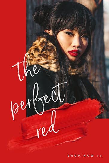 Red Lipstick Model - Pinterest Pin Template