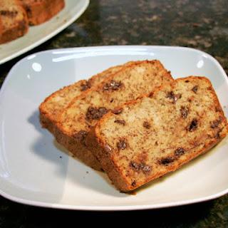 Moist Chocolate Chip Banana Bread.