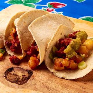 Potato and Chorizo Tacos.
