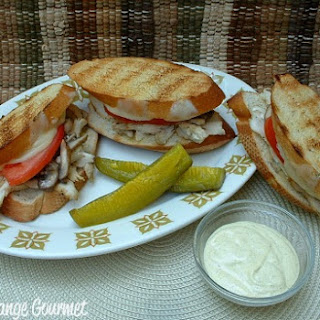 Grilled Italian Chicken Sandwich.