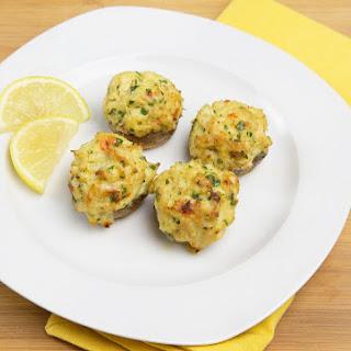 Little Plates - Grilled Shrimp, Stuffed Mushrooms and Bruschetta.