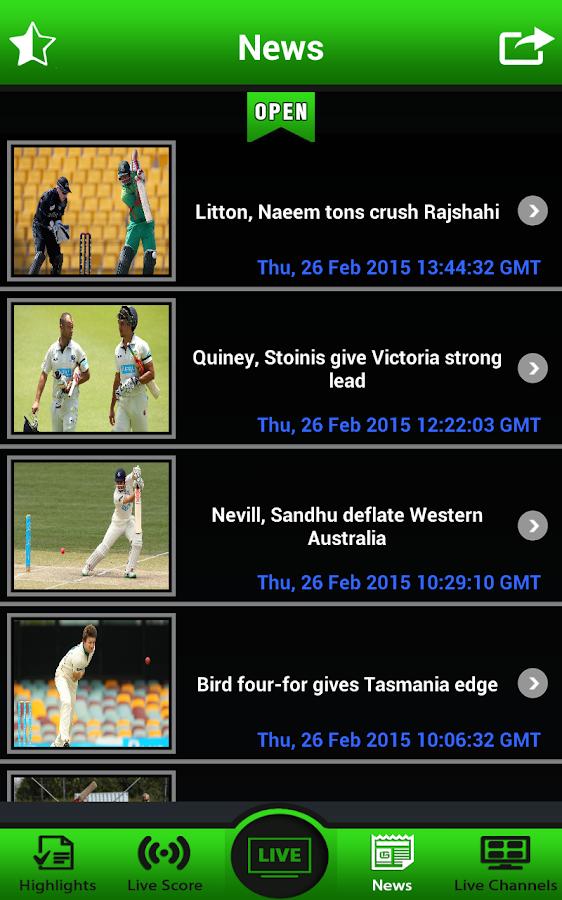 live tv cricket match
