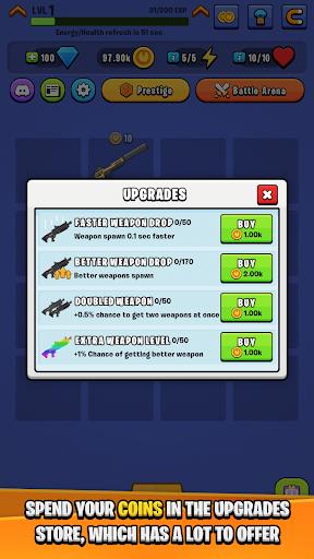 Code Triche Idle Royale Weapon Merger APK MOD screenshots 4