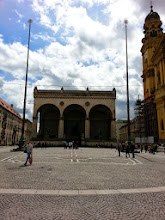 Photo: Odeonsplatz: The square where Hitler first tried sparking up a furor, and was arrested. Some of his supporters were killed here. When he was released, he built a memorial here, and called them the first martyrs of the 3rd Reich. He demanded everyone passing by to salute it with a 'Heil Hitler' as they went by.