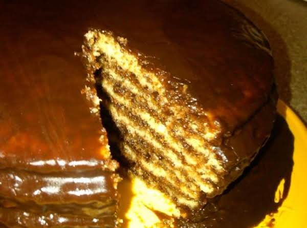 Opel S Chocolate Stack Cake Recipe Just A Pinch Recipes