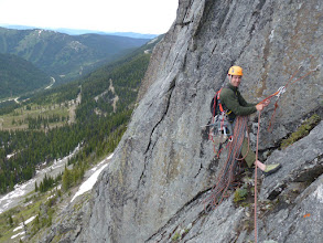 Photo: JT Croston on top of pitch 2 during the 2010 exploration