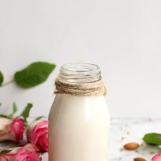 Homemade Almond Milk.